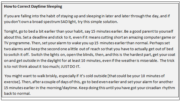 Correct Bad Sleeping Patterns
